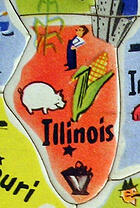 Cutout of Illinois from map