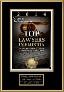 2014 Top Lawyer Award Certificate