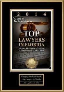 2014 Top Lawyer Award Certificate
