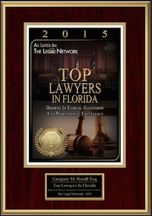 2015 Top Lawyer Award Certificate