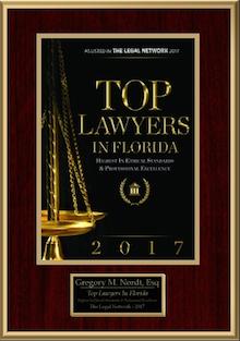 2017 Top Lawyer Award Certificate