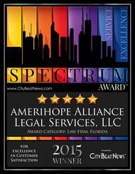 Spectrum Award Certificate