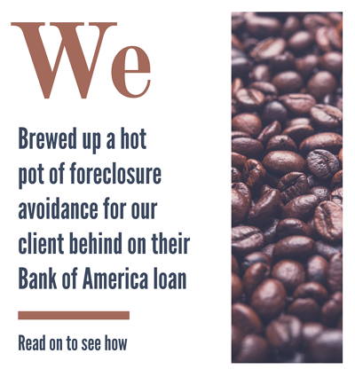 Bank of America tried to foreclose on our client, who fell behind on mortgage with Bank of America after divorce, but our seasoned staff has helped her avoid foreclosure.