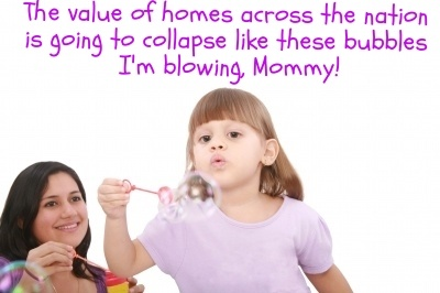 Most people did not know the housing bubble was going to burst, causing the value of their home to drop suddenly.