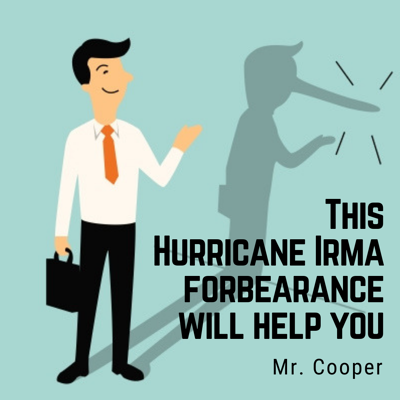 "Florida Attorney General Pam Bondi has announced that a settlement was reached with Nationstar Mortgage, doing business as Mr. Cooper, that ""resolves allegations regarding Mr. Cooper's servicing misconduct in the aftermath of Hurricane Irma."" Affected homeowners are eligible to receive $350."