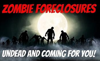 Zombie foreclosure is when a homeowner believes that their home has been foreclosed, but it hasn't and they are still responsible for paying taxes and fees on it.
