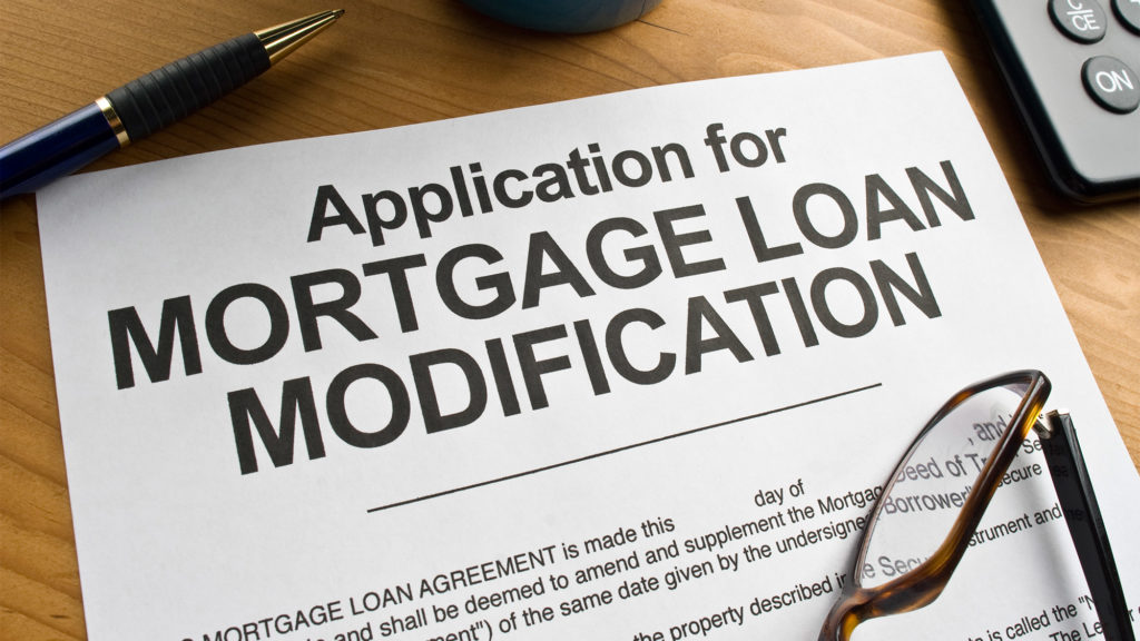 A loan modification is a permanent change to one or more of the terms of a loan, such as its monthly payment, interest rate, or term length. The important thing about a loan mod is that the homeowner who receives one will get out of foreclosure if they're in it, and they will be allowed to go back to paying their mortgage like normal. For homeowners who fall behind on their mortgage payments and into foreclosure, a loan modification is often the only way for them to keep their home.
