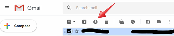 In Gmail, Yahoo, and other email programs, you can select an email and click the 'Report spam' button. In Gmail, the button has an exclamation point inside a stop sign. This will prevent future emails from that sender from showing up in your inbox. Instead, they will be sent to a spam folder. You're not unsubscribed, but you won't see the emails anymore.