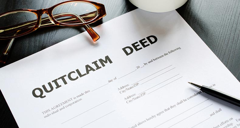 A quitclaim deed is a way to transfer interest in real property. It won't prevent foreclosure, but is used in some situations where foreclosure is a risk.